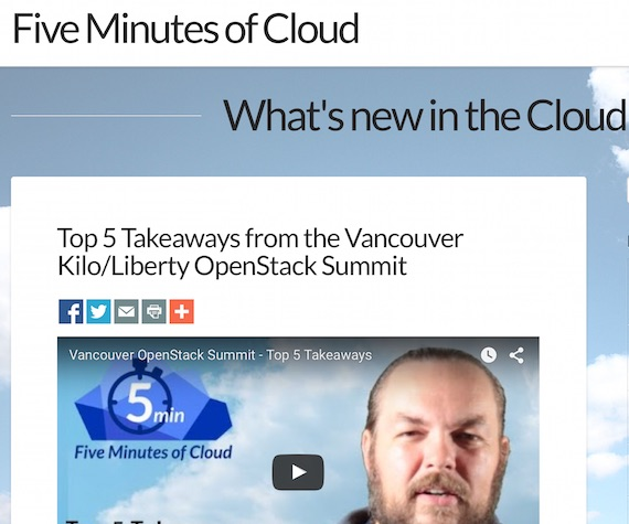 Demistifying Cloud Five Minutes at a Time
